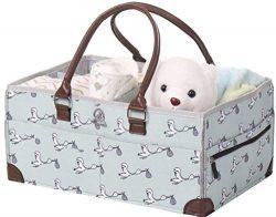 Baby Diaper Caddy Organizer – Shower Registry Gift Basket for Newborn Boy Girl, Large Nurs ...