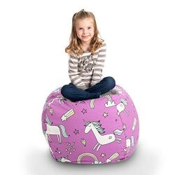 Creative QT Stuffed Animal Storage Bean Bag Chair – Stuff 'n Sit Organization for Ki ...