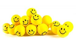 Neliblu Why Worry? Be Happy! Neon Yellow Smile Funny Face Stress Balls – Happy Smiley Face ...