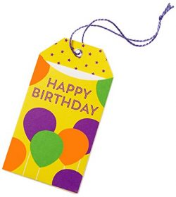 Amazon.com Gift Card in a Birthday Balloons Gift Tag