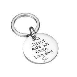 CJ&M Stepdad Keychain, Stepfather Gift, Gift for Step Dad, Step Parent Keychain, Step Mother ...