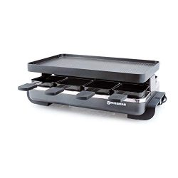 Swissmar KF-77041 Classic 8-Person Raclette with Reversible Cast Aluminum Non-Stick Grill Plate/ ...