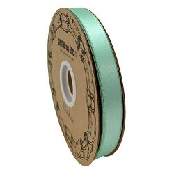 Mint Green Satin Fabric Ribbon – 5/8″ x 100 Yards, Holiday Decor, Garland, Gifts, Wr ...
