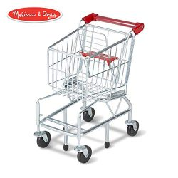 Melissa & Doug Toy Shopping Cart with Sturdy Metal Frame, Play Sets & Kitchens, Heavy-Ga ...