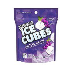 ICE BREAKERS Ice Cubes Sugar Free Gum, Arctic Grape, 100 Piece