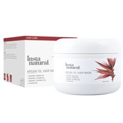 InstaNatural Argan Oil Hair Mask – Best Conditioner Treatment for Soft & Silky Hair &# ...