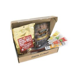 Man Crates Exotic Meats Jerkygram with 6 Sampler Varieties of Rare Jerky Meats – Great Gif ...