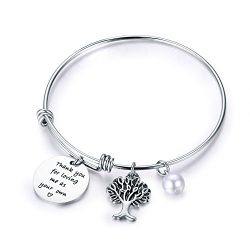 CJ&M Step Mother Gift – Thank You for Loving Me as Your Own Step Mother Bracelet,Step  ...