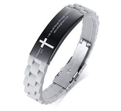 MEALGUET Stainless Steel I can do All Things Through Christ who Strengthens me Philippian 4:13 I ...