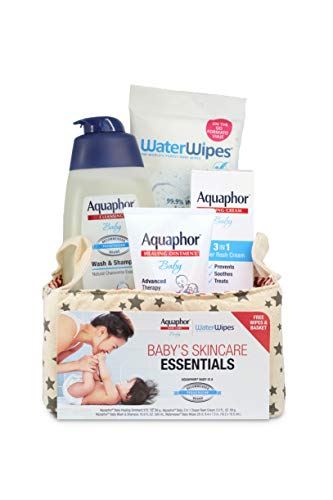 Aquaphor Baby Welcome Baby Gift Set – Free WaterWipes and Bag Included – Healing Oin ...