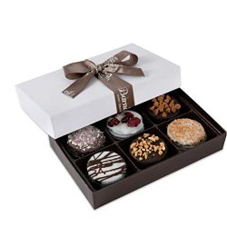 Barnett's Chocolate Cookies Favors Gift Box Sampler, Gourmet Christmas Holiday Corporate F ...