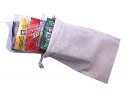 Spicy Hot Gourmet Microwave Popcorn Gift Bag – Four Varieties Chipotle Habanero Jalapeno a ...