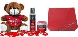 Edible Massage Oil and Body Dust for Women Romantic Gift Sets for Her, Anniversary Gift Ideas, B ...