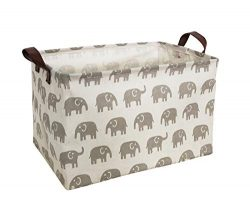 HIYAGON Rectangular Storage Box,Fabric Storage Bin for Organizing Toys,Collapsible Storage Baske ...