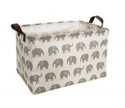 HIYAGON Rectangular Storage Box,Fabric Storage Bin for Organizing Toys,Collapsible Storage Baske ...