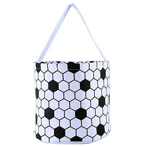 E-FirstFeeling Soccer Basket Easter Basket Easter Hunt Bag Easter Egg Candy Basket Gift Toy Bask ...