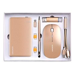 Gold Business Gift Set, AMENER Office Desk Supplies Electronic Kit, Gift to Birthday Wedding Cor ...
