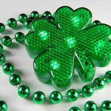 Lighted String Shamrock Necklace -3 different light modes St. Patricks Day Decorations