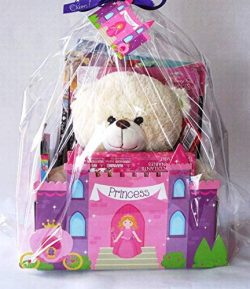 Princess Congratulations Gift Basket Teddy Bear with Princess Theme Item Gift Basket (Princess C ...
