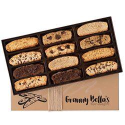 Granny Bella's Handmade Artisan Biscotti Gift Box, 12 Gourmet Italian Cookies Basket, Uniq ...