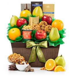 GiftTree Get Well Five Star Fruit Gift Basket | Fresh Fruit Includes Pears, Apples and Oranges | ...