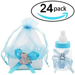 Layalacio 24 PCS Bottle Candy Gift Box and Organza Candy Basket Set for Baby Showers, Parties, a ...