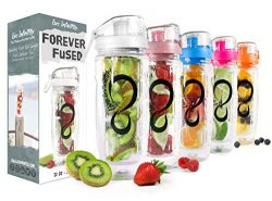 Live Infinitely 32 oz. Infuser Water Bottles – Featuring a Full Length Infusion Rod, Flip  ...