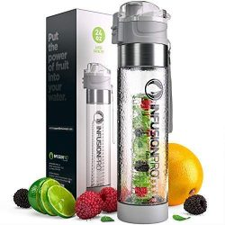 Infusion Pro Water Infuser Bottle – 24 oz Infused Water Bottle bpa Free | Premium Leak Proof Tri ...