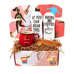 Coffee Lover Gift Box By Silly Obsessions. Gift Basket for Coffee Enthusiasts. Dinner Party Gift ...
