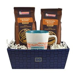 Dunkin' Donuts Gourmet Coffee & Mug Prewrapped Gift Basket – Includes Collectable Dunk ...