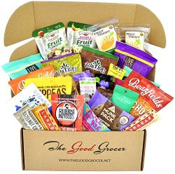 Deluxe VEGAN Snacks Care Package: Plant-based, Non-GMO, Vegan Jerky, Snack Bars, Protein Cookies ...