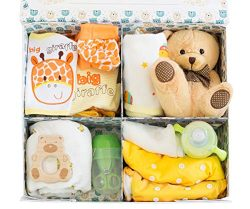 Bundle Bear Box, Baby Shower Gift Bundle, 9 Essentials – Gender Neutral