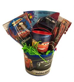 Prefilled Gift Basket for Young Boys Cars No Sugar Just Toys Age 4+ Premade