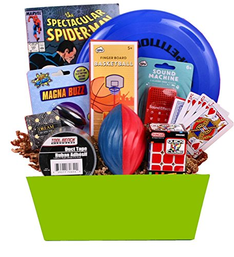 Beyond Bookmarks Teen Scene – Boy's Birthday or Special Occasion Gift Basket Include ...
