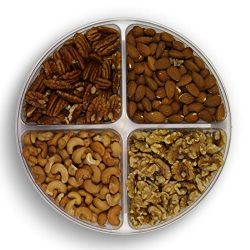Gourmet Nuts Gift Baskets 4-Mixed Sectional Healthy Fresh Gift Idea For Christmas, Thanksgiving, ...