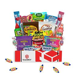 Kids Snack Box Care Package for Easter Basket, Birthday Party Gift Ideas with Snacks and Candy ( ...