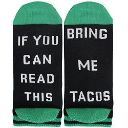 If You Can Read This Women's Funny Saying Knitting Word Combed Cotton Ankle Taco Socks