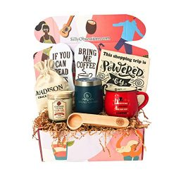 Coffee Lover Gift Box by Silly Obsessions. Gift Basket for Coffee Enthusiasts. Best Housewarming ...