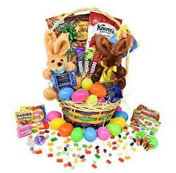 Easter Gift Basket -Toys Filled Easter Eggs hunt, Chocolate and Candy, Snacks, Toys – East ...