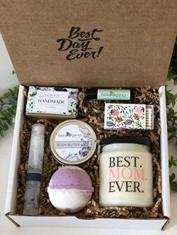 Best Mom Ever Gift Box – Birthday Gift for Mom – Spa Gift Box with Scented Candle &a ...