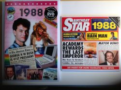 1988 Birthday Gifts Set – 1988 DVD Film , 1988 Chart Hits CD and 1988 Birthday Card