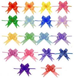 Floranea 180 Pcs Gift Wrap Bows Gift Basket Pull Bows Ribbon for Birthday Mother's Day Chr ...