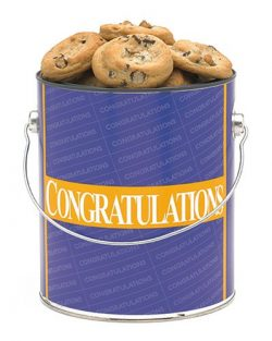 Congratulations Cookie Gallon – Chocolate Chip Baked Fresh by Apple Cookie & Chocolate Co