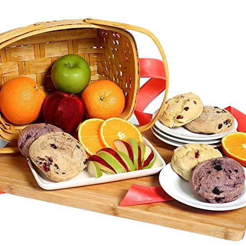 Gourmet Fruit Basket with Freshly Baked Scones – Fruit Gift Basket for Mom, Birthdays, Tha ...