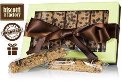 The Biscotti Factory Peanut Butter Oatmeal Biscotti Gift Box, Individually Wrapped Biscottis, Ha ...
