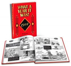 1954 What A Year It Was Book, First Edition: Happy 65th Birthday or 65th Anniversary