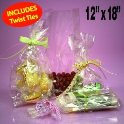 50 Clear Cello/cellophane Bags – Flat 12″ X 18″ – Wedding Favors Party G ...