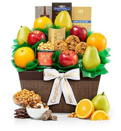 Five Star Fruit Congratulations Gift Basket | Fresh Fruit Includes Pears, Apples and Oranges | E ...