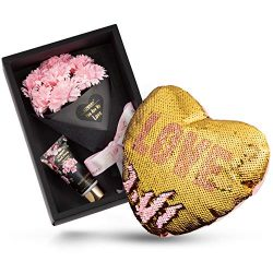 Mother's Day Gifts Bath and Body Gift Baskets for Women, Spa Gift Basket, Plant Essential  ...