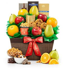 GiftTree Thank You Five Star Fruit Gift Basket | Fresh Fruit Includes Pears, Apples and Oranges  ...